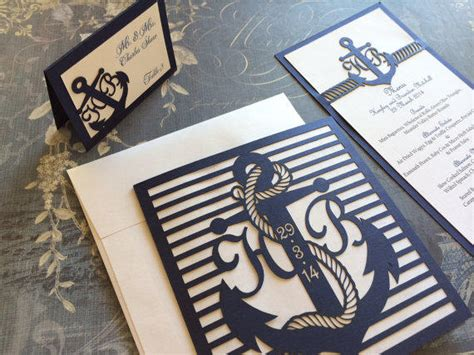 wedding invitations nautical laser cut wedding invitations nautical from celinedesigns on