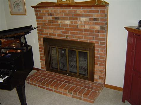 installing fireplace glass doors