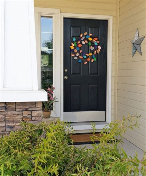 diy fall wreaths front door diy faux copper paper and felt leaves fall wreath