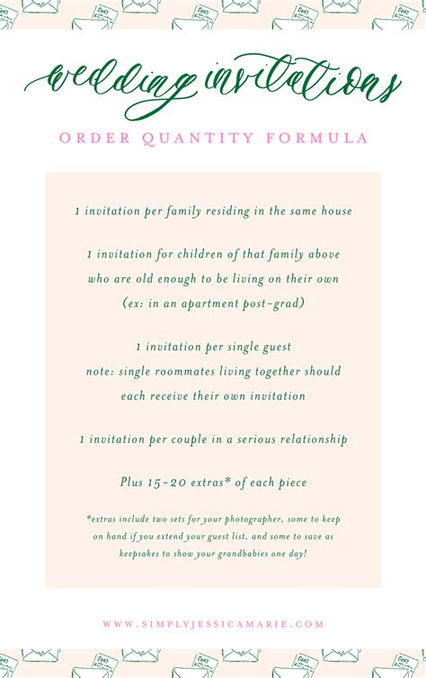 custom wedding stationery 101 how many wedding invitations should you order simply