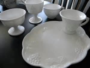 daze of grace milk glass luncheon plates