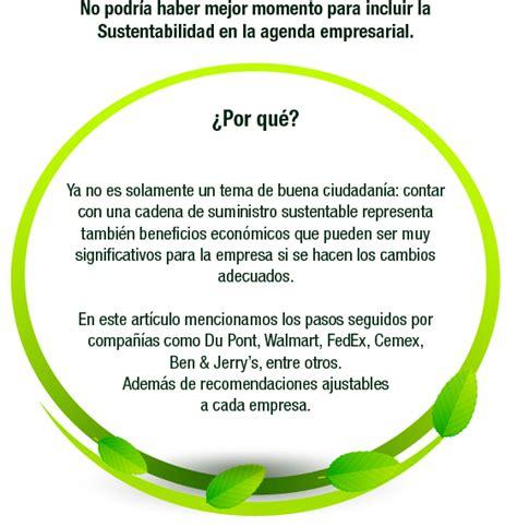 cadenas de suministro que son cadena de suministro sustentable ser verde es redituable