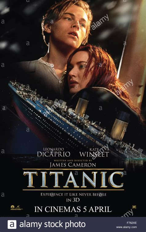 film titanic complet en francais 1997 film movie poster of titanic stock photo 90488454 alamy