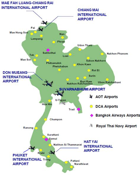 us domestic airports map thailand aviation growth slows in 2014 as international