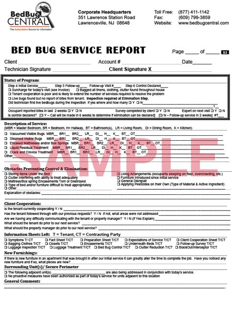 how do bed bugs form documents package