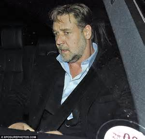 rugged actors connelly heads to noah afterparty but crowe looks glum daily mail