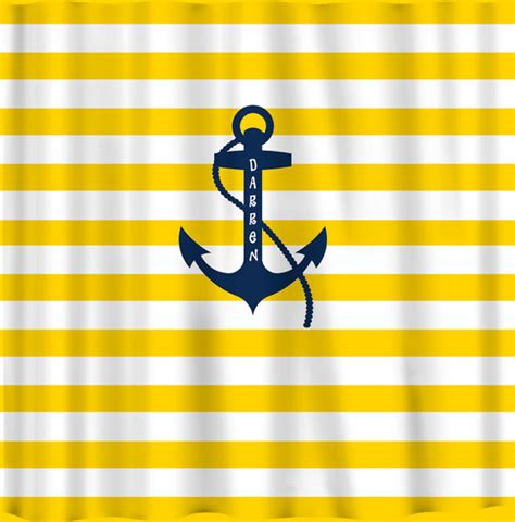 yellow and navy shower curtain personalized shower curtain yellow and white bold by redbeauty