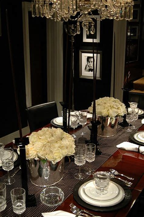 Ralph Dining Room by Ralph Black White Dining Room Tablescapes