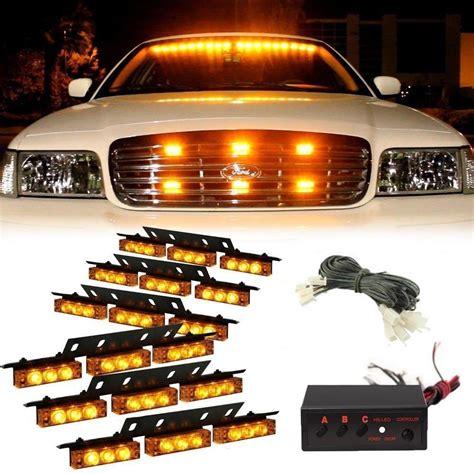 emergency vehicle grille lights 54 led emergency vehicle strobe lights bars warning deck