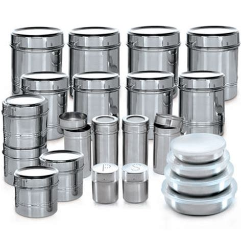 Kitchen Set 375 reviews of branded 44 pcs stainless steel storage set at naaptol