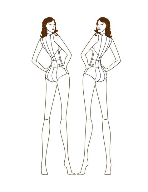 fashion model template the gallery for gt fashion model sketch base