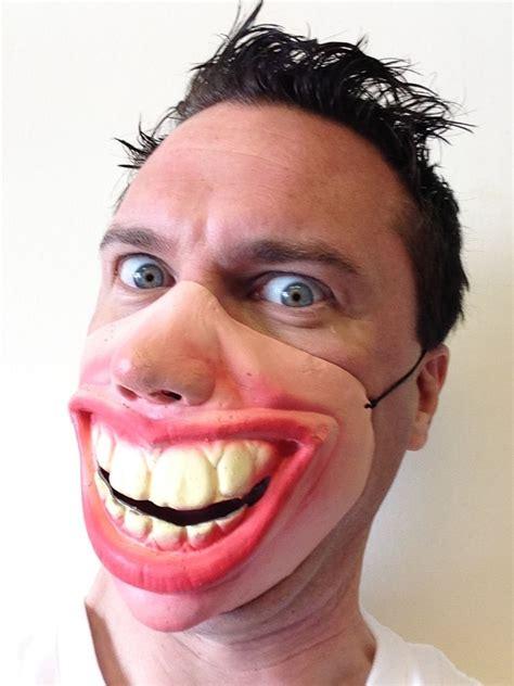 Big Teeth Meme - funny half face big teeth smile grin mask masks adult child s fancy stag party ebay