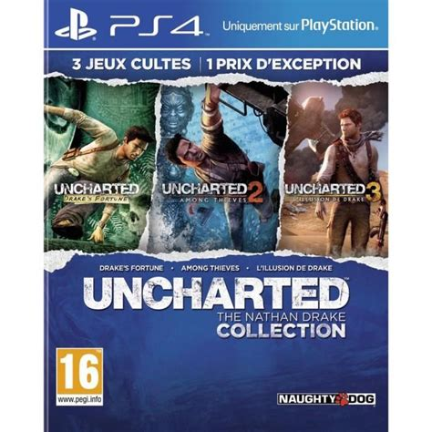 bd ps4 uncharted collection 1 2 3 uncharted the nathan collection achat vente