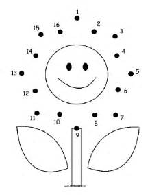 printable smiling flower dot to dot puzzle