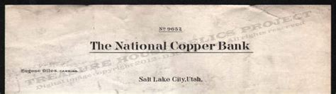 Peoples Bank Letterhead Letterhead Utah M O