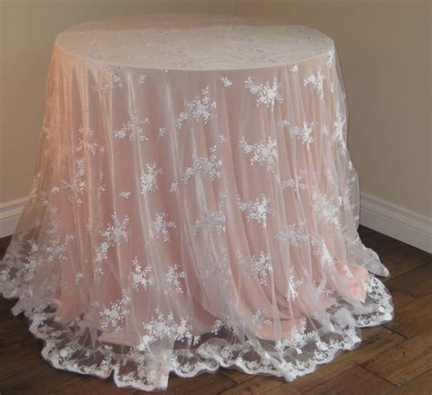 Wedding Tablecloths by Lace Wedding Tablecloth White Lace By Moderncelebrations