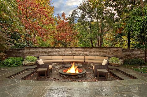 Firepit Designs Outdoor Living Spaces By Harold Leidner
