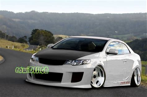 Kia Cerato Koup Modified Kia Cerato Koup White