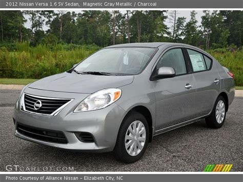 grey nissan versa magnetic gray metallic 2012 nissan versa 1 6 sv sedan