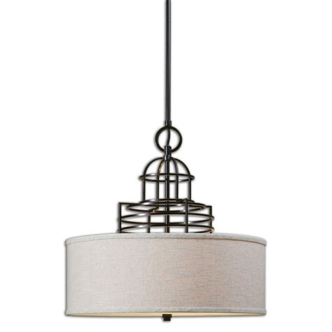 Cupola Lighting cupola 3 light weathered bronze drum shade uvu22021