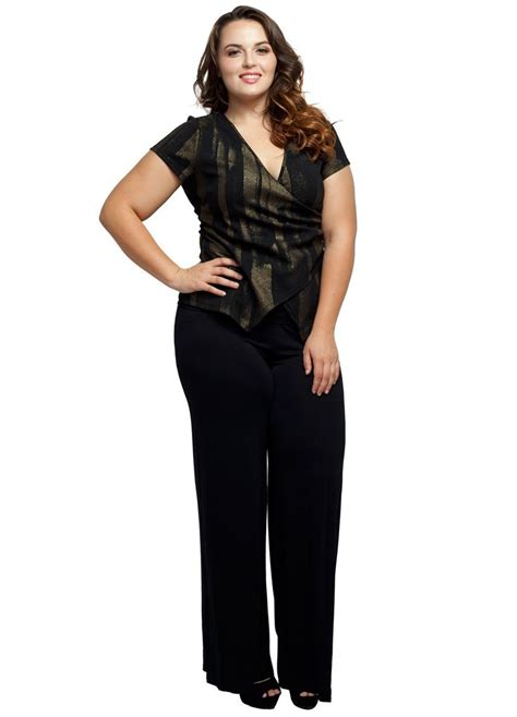 Comfy Palazo stylzoo s plus size stretchy comfy palazzo solid