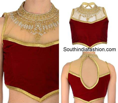 High Neck Blouse In by Netted Blouse Fashion Trends India South India Fashion