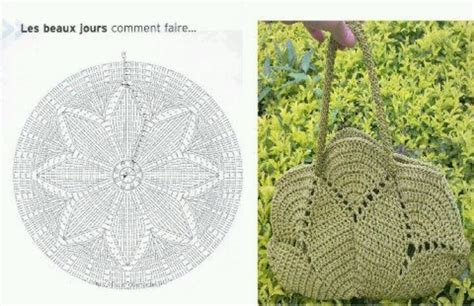 crochet pattern bag diagram diagram crochet bag bolso pinterest