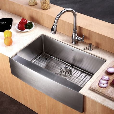 single bowl sinks for kitchens kraus 30 inch farmhouse single bowl 16 stainless