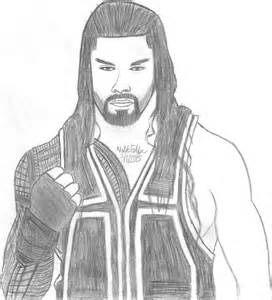 logo roman reigns body drawing pictures to pin on