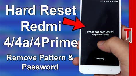 design pattern password reset how to hard reset redmi 4 redmi 4a hard reset all redmi