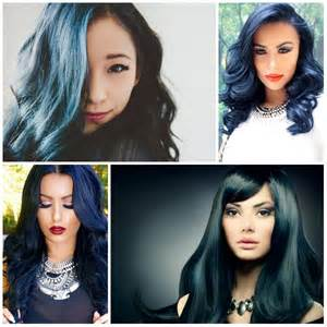 hot color for 2017 hottest blue black hair color ideas for 2017 new hair
