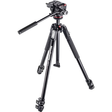 tripod manfrotto manfrotto 190x3 three section tripod with mhxpro 2w mk190x3 2w