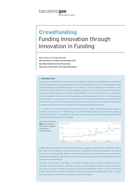 funding for dissertation research crowdfunding funding innovation through innovation in