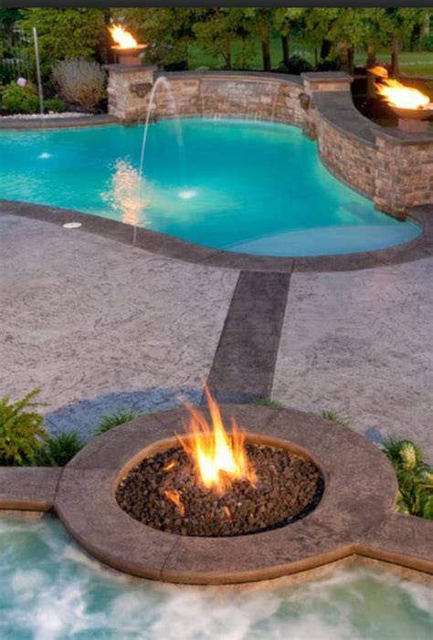 pool fire pit pool fire pit patio yard inspiration pinterest