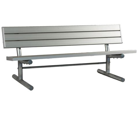 8 foot bench bench with back 8 foot aluminum galvanized frame
