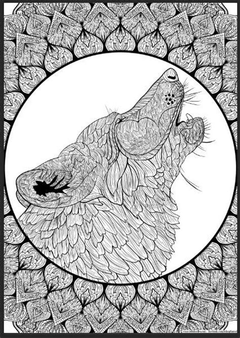 wolf mandala coloring pages 23 best wolf coloring pages images on pinterest mandalas