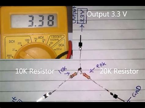 what resistor do i need to go from 12v to 3v how to convert d c 5v to 3v
