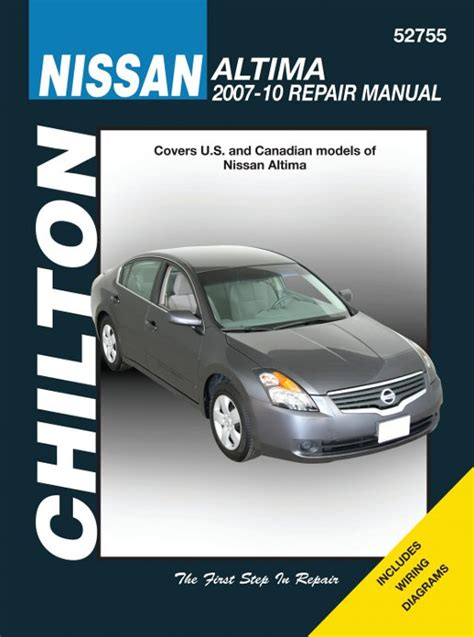 chilton car manuals free download 1992 nissan maxima lane departure warning chilton nissan altima 2007 2010 auto repair manual