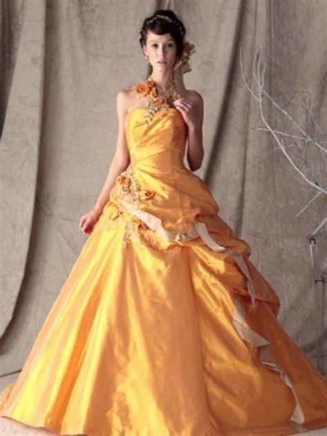 Dres Jp カラードレスorange ウェディングプレッジ dress ドレス カラー