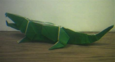 Origami Alligator - an origami crocodile