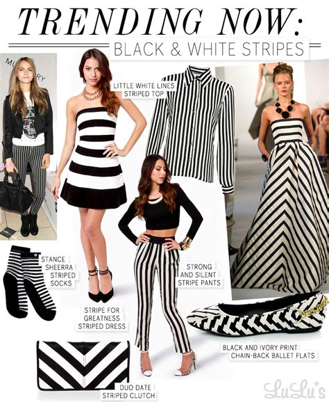 Trend Alert by Trend Alert Black And White Stripes
