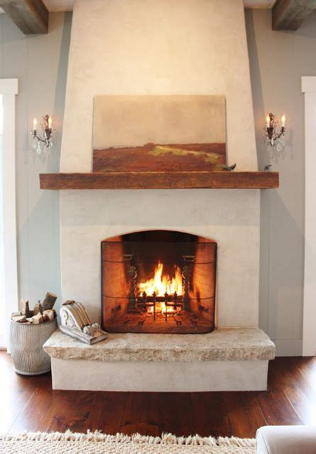 25 best ideas about stucco fireplace on