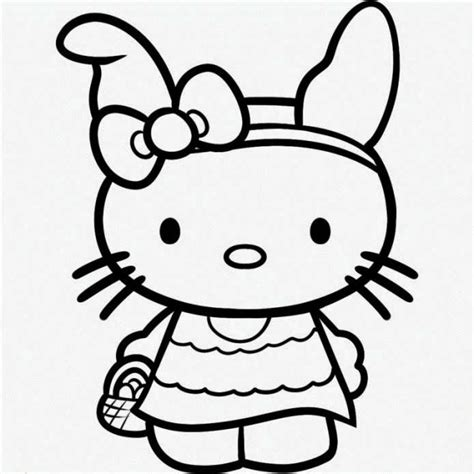hello kitty easter coloring pages to print hello kitty coloring pages