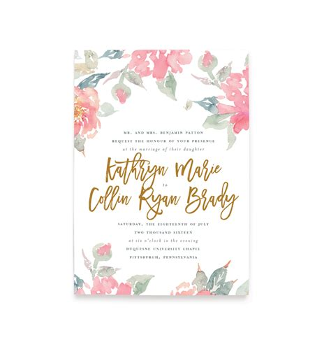 Water Themed Wedding Invitations by Watercolor Floral Wedding Invitations Free Shipping