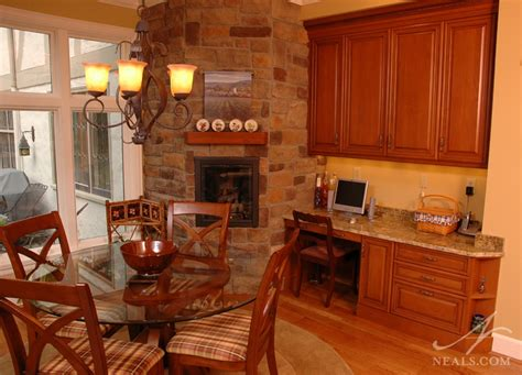 Kitchen Design Consultant by Den And Kitchen Fireplace Remodel Hyde Park Oh