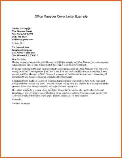 Office Manager Cover Letter by 9 Office Manager Cover Letter Budget Template Letter