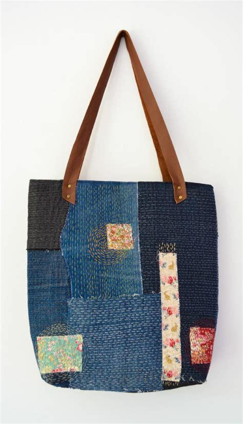 Dahana Sashiko Tote Bag how to make a sashiko denim tote bag myers creations
