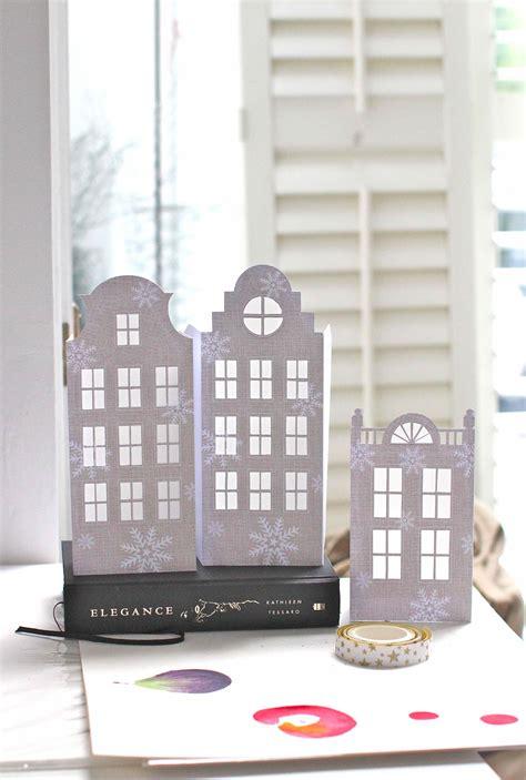 printable paper house luminaries diy dutch house luminaries instructions here templates