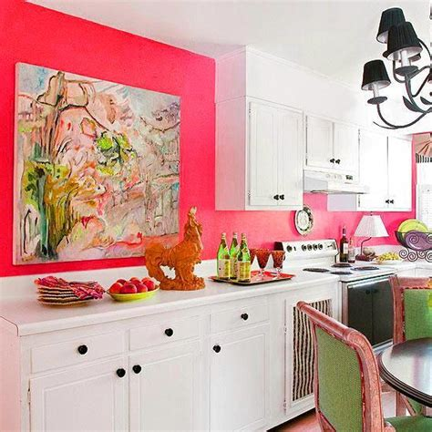 coral kitchen purple and pink kitchen colors adding retro vibe to modern