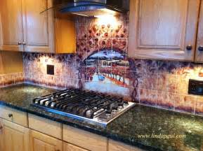 Kitchen Tile Murals Tile Art Backsplashes wine and roses tile mural kitchen backsplash custom tile art